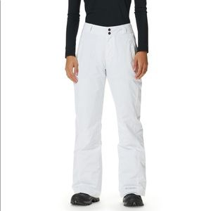 Columbia White Omnitech Snowpants